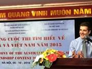 Lancement d'un concours d'écriture sur le pays et l'homme de l'Australie et du Vietnam 2015