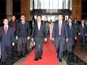 Le Premier ministre arrive à Kuala Lumpur