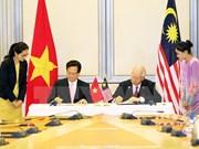 Nouvelles perspectives de la coopération entre le Vietnam et la Malaisie et Singapour