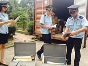 Saisie de 735  kilos d'ivoire et de cornes de rhinocéros