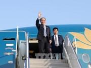Le président de l'AN Nguyen Sinh Hung arrive à New York
