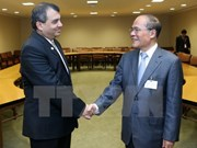 Nguyen Sinh Hung rencontre des dirigeants des pays et des organisations