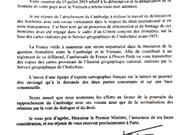 Le Cambodge vérifiera les cartes prêtées par la France