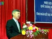 Rencontre entre l'ambassadeur vietnamien et des étudiants laotiens
