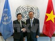 Entrevue Truong Tan Sang – Ban Ki-moon