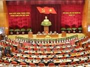 Première journée de travail du 12e Plénum du CC du PCV du 11e mandat