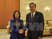 Une délégation du Front de la Patrie du Vietnam en visite en Chine