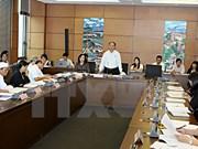 L'Assemblée nationale discute de questions socio-économiques