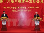 Nguyen Phu Trong et Xi Jinping rencontrent les jeunes des deux pays