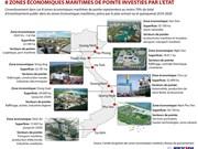 [Infographie] Huit zones maritimes de pointe investies par l'Etat