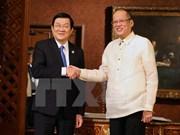 Entretien entre les présidents vietnamien et philippin