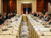 Le président Truong Tan Sang rencontre des groupes américains en activité aux Philippines