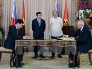 Vietnam et Philippines publient une déclaration conjointe de partenariat stratégique