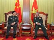 Le général Nguyen Chi Vinh reçoit une délégation militaire chinoise