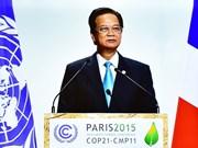 Climat : le Vietnam affirme son fort engagement à Paris