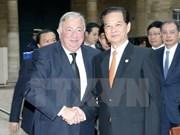 Entrevue Nguyen Tan Dung et les présidents du Sénat et de l'AN de la France