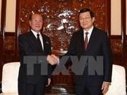 Truong Tan Sang reçoit le procureur général du Parquet suprême de la RPDC