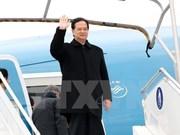 Le Premier ministre Nguyen Tan Dung arrive à Bruxelles