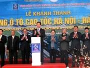 Ouverture au trafic de l'autoroute Hanoi - Hai Phong
