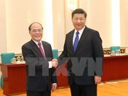 Le président de l'AN vietnamienne reçu par le président chinois