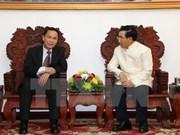 Le vice-Premier ministre laotien reçoit le directeur général de la VNA
