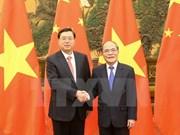 Entretien Nguyen Sinh Hung - Zhang Dejiang