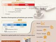 [Infographie] La privatisation des entreprises étatiques accomplie à plus de 75%