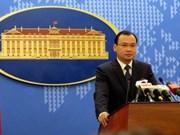 Le Vietnam demande de mettre fin aux actes de violation de sa souveraineté sur Truong Sa