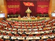 Premier jour de travail du 14e Plénum du CC du PCV (11e mandat)
