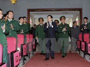 Le chef de l'Etat rend visite à l'Académie de logistique militaire
