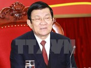 Le président du Vietnam Truong Tan Sang en visite à Long An