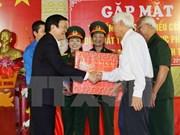 Le chef de l'État rencontre d'anciens prisonniers révolutionnaires