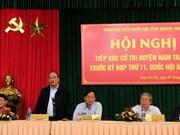 Le vice-PM Nguyên Xuân Phuc rencontre des électeurs de Nam Trà My