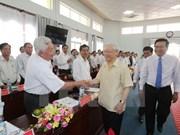 Le leader du Parti en visite de terrain dans la province de Long An