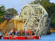 Arrestation d'une 3è personne impliquée dans l'effondrement d'un pont ferroviaire