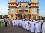 Célébration du 90e anniversaire de la fondation du caodaïsme à Ben Tre