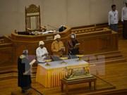 Le nouveau président du Myanmar prête serment