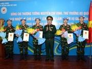 Cinq officiers vietnamiens en mission de maintien de la paix