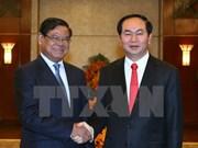 Le président reçoit le vice-PM cambodgien Sar Kheng