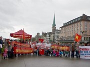 Manifestation en Suisse contre les actes illégaux de la Chine en Mer Orientale