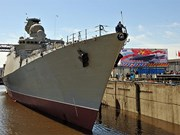 Mise à l'eau d'une frégate construite en Russie pour la Marine vietnamienne