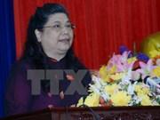 La vice-présidente de l'AN, Tong Thi Phong en visite au Royaume-Uni