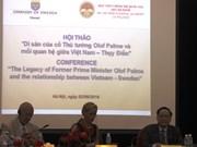 Séminaire sur l'ancien PM Olof Palme et les relations Vietnam-Suède