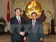 Développement des relations avec le Laos et le Cambodge