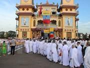 L'Eglise des missionnaires caodaïstes célèbre le 60e anniversaire de sa fondation