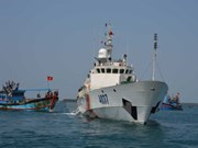 Protestation après l'attaque chinoise d'un bateaux de pêche vietnamien