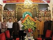 Vœux à l'Eglise bouddhique du Vietnam à l'occasion de la fête Vu Lan