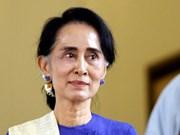 La conseillère d'État du Myanmar en visite officielle en Chine