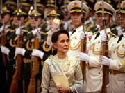 La conseillère d'Etat Aung San Suu Kyi : la paix est le premier objectif du Myanmar