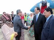 Le président Trân Dai Quang est arrivé au Brunei